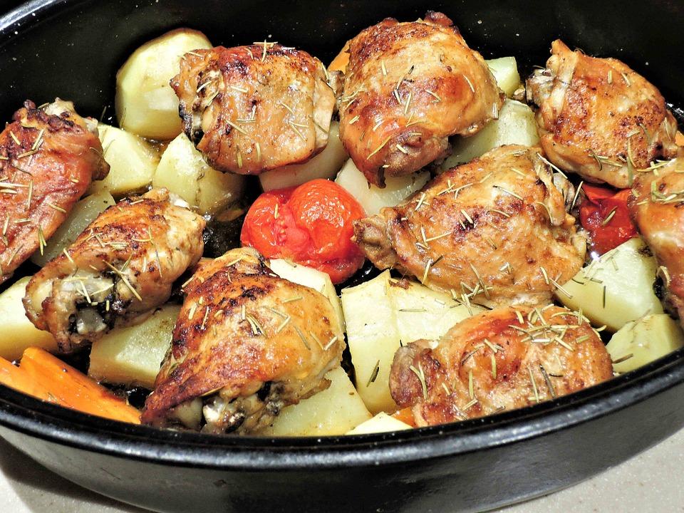 Cuisse de poulet rôti à la tomate