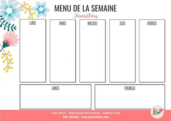 MENU SEMAINE 3