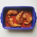Cuisses de poulet rôti à la tomate